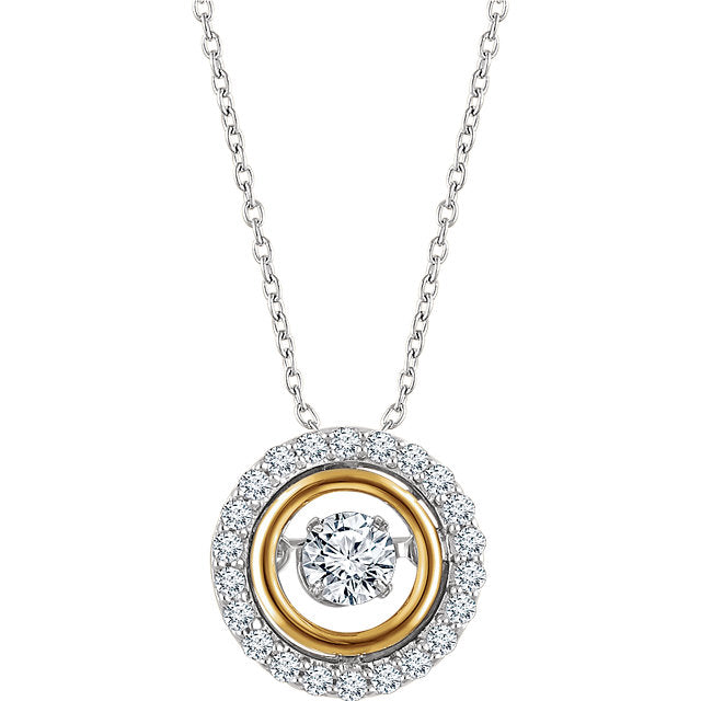 White & Yellow Diamond Mystara® Necklace