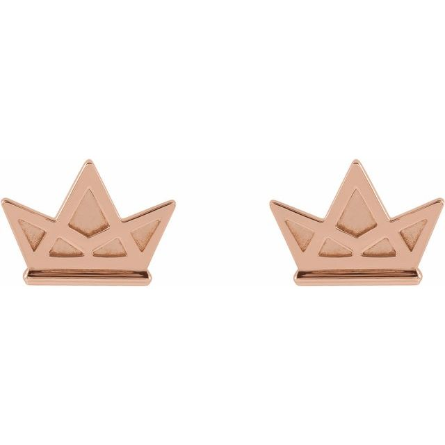Tiny Crown Earrings