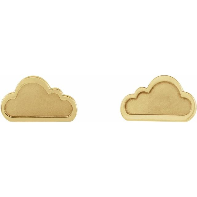 Tiny Cloud Earrings