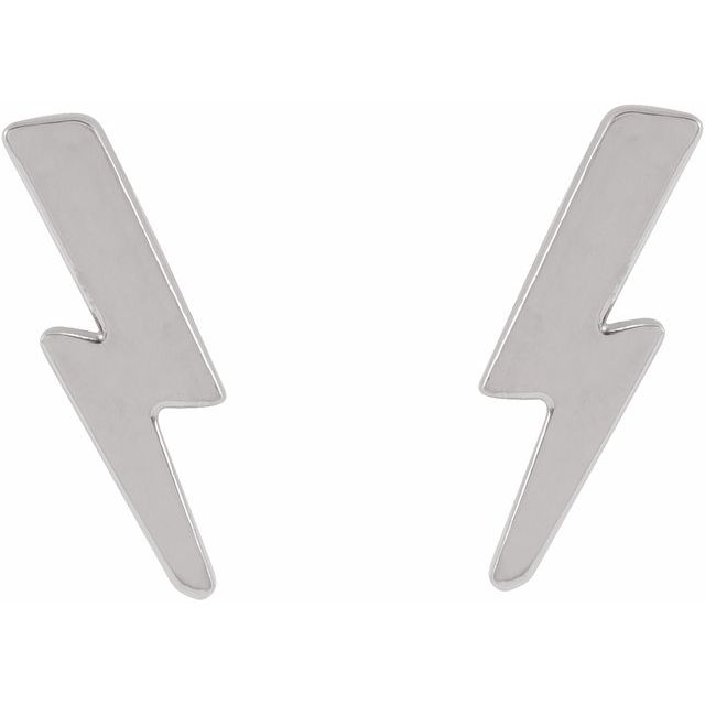 Tiny Lightning Bolt Earrings