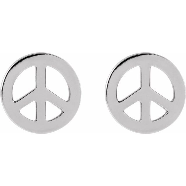 Tiny Peace Earrings