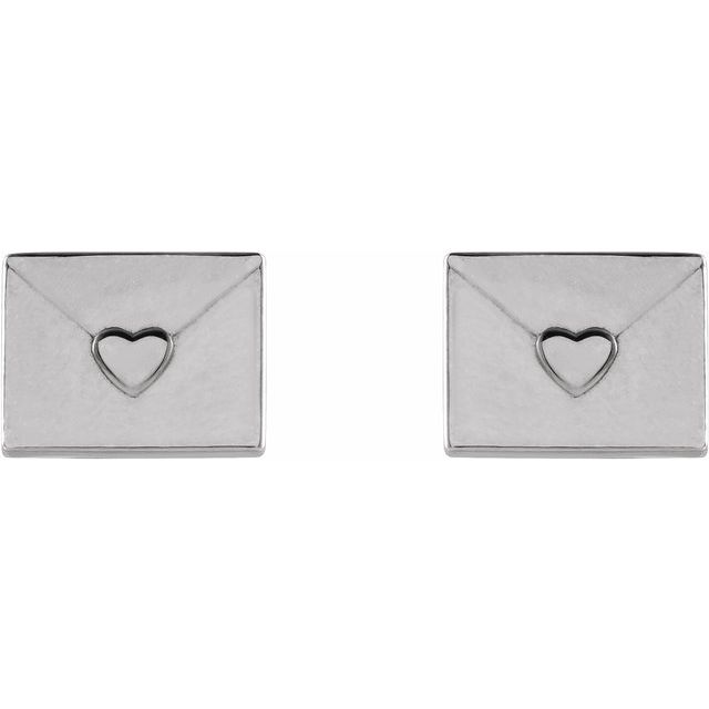 Heart Envelope Earrings