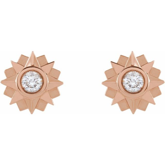 Diamond Sun Earrings