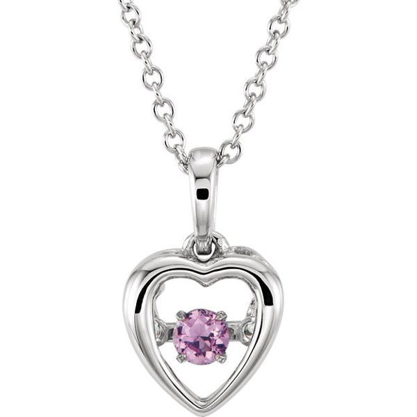 Mystara® Gemstone Heart Necklace