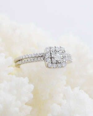 Diamond Wedding Ring Set