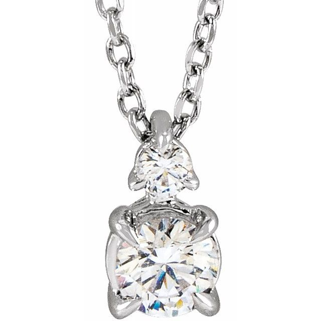"Lab-Grown Diamond Claw-Prong 16-18"" Necklace"