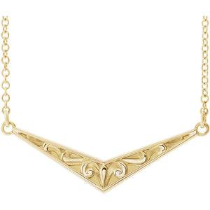 "Sculptural-Inspired ""V"" Necklace"
