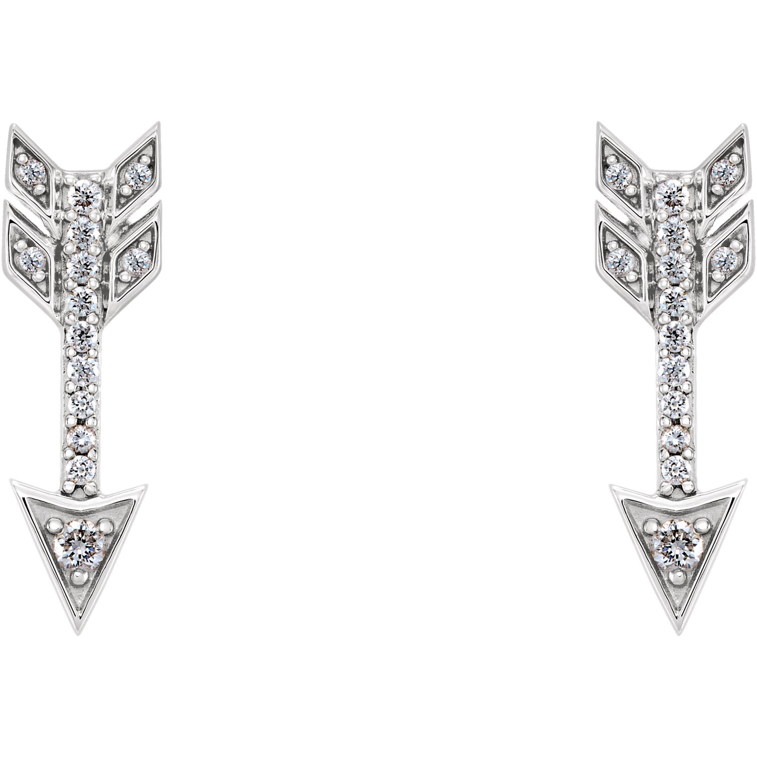 Diamond Arrow Earrings