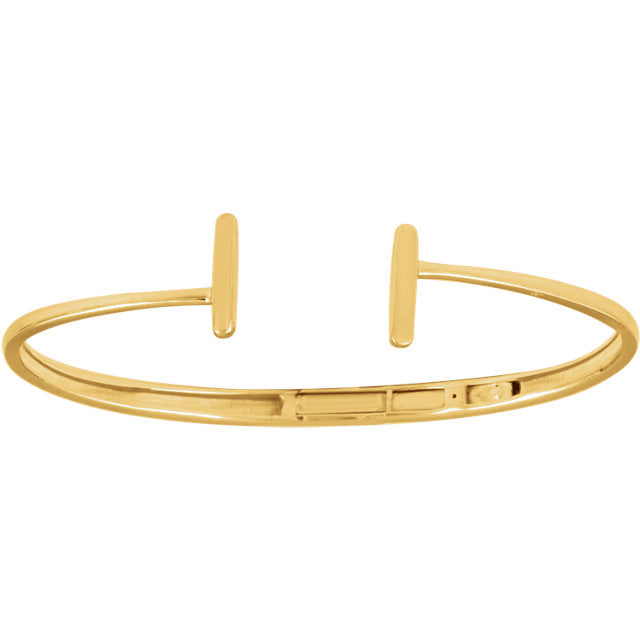 Hinged Cuff Bar Bracelet