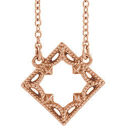Vintage-Inspired Geometric Necklace