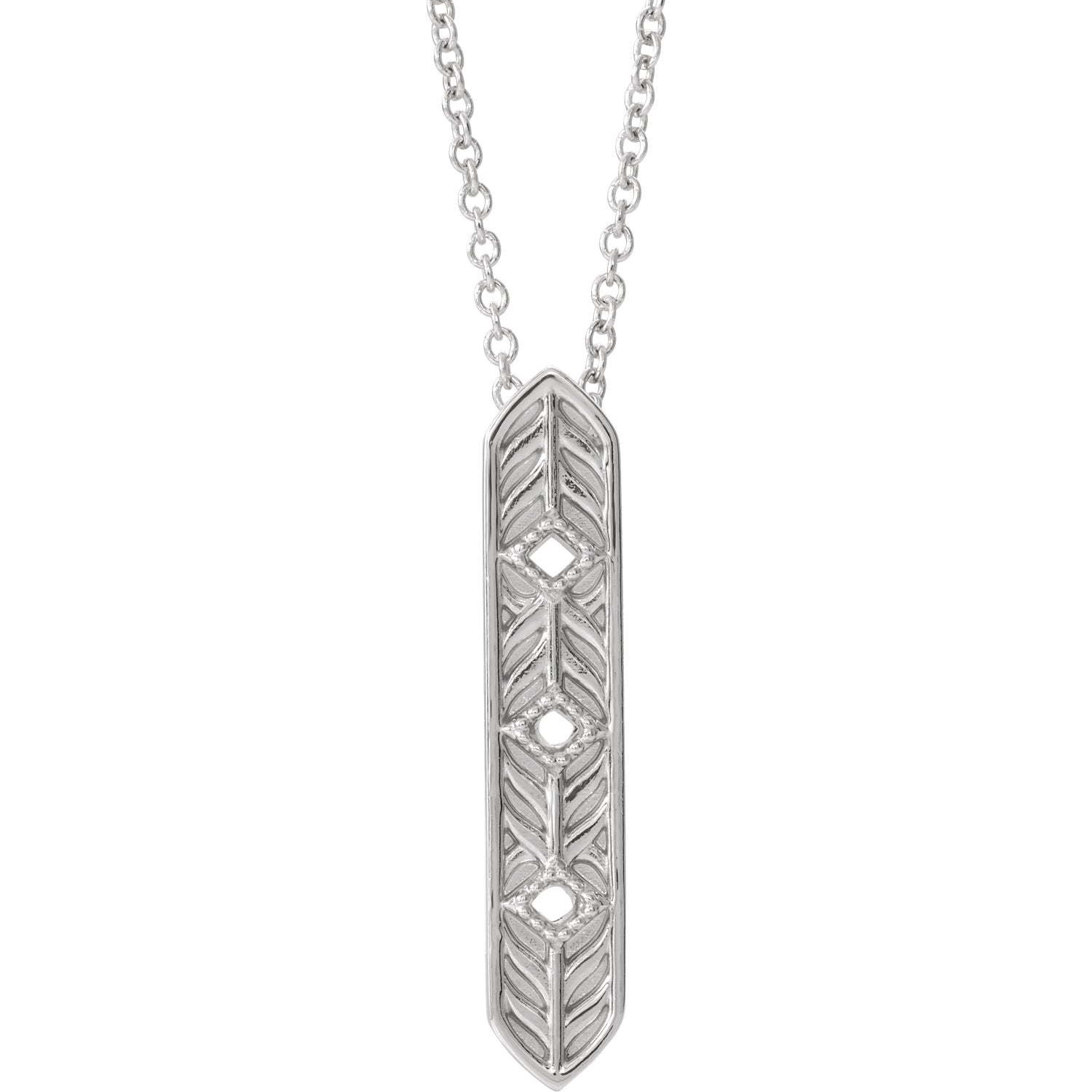 Vintage-Inspired Vertical Bar Necklace
