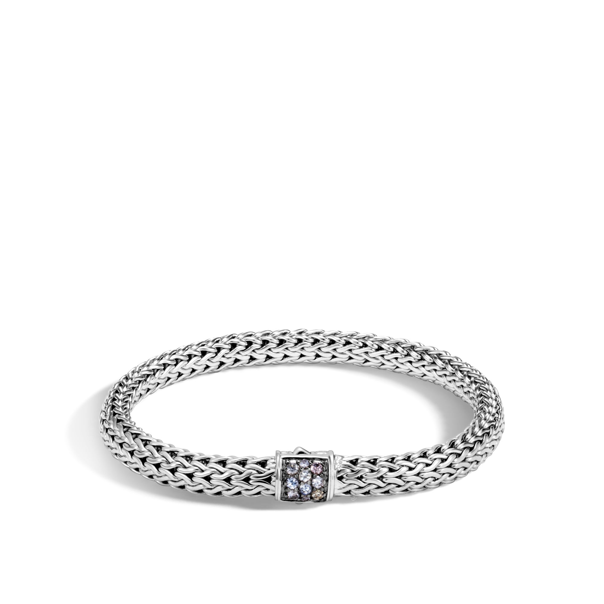 Classic Chain Bracelet with Grey Sapphire