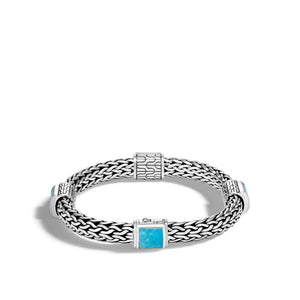 Classic Chain Bracelet with Turquoise