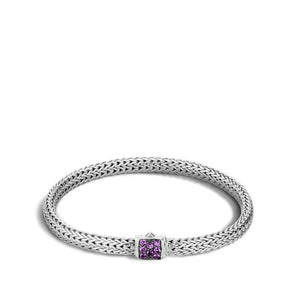 Classic Chain Bracelet with Amethyst