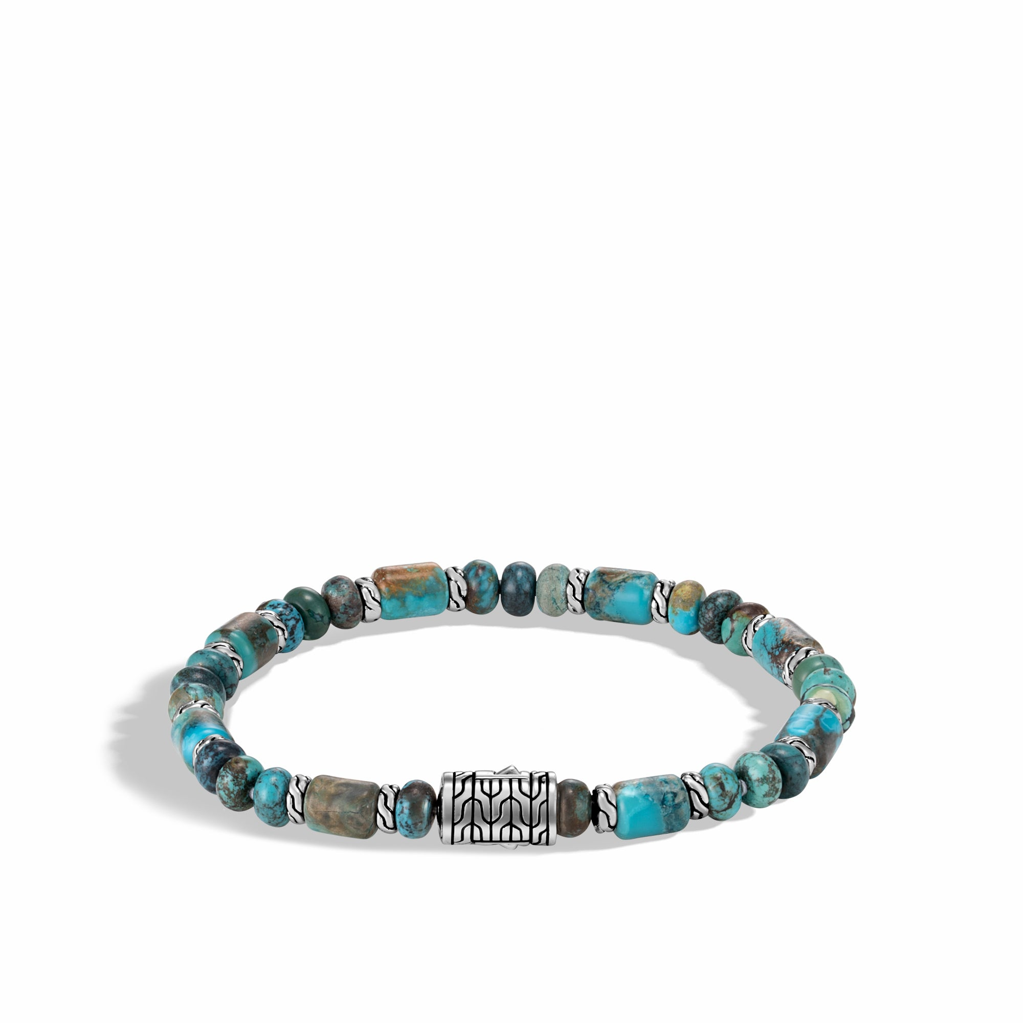 Bead Bracelet with Mixed Turquoise