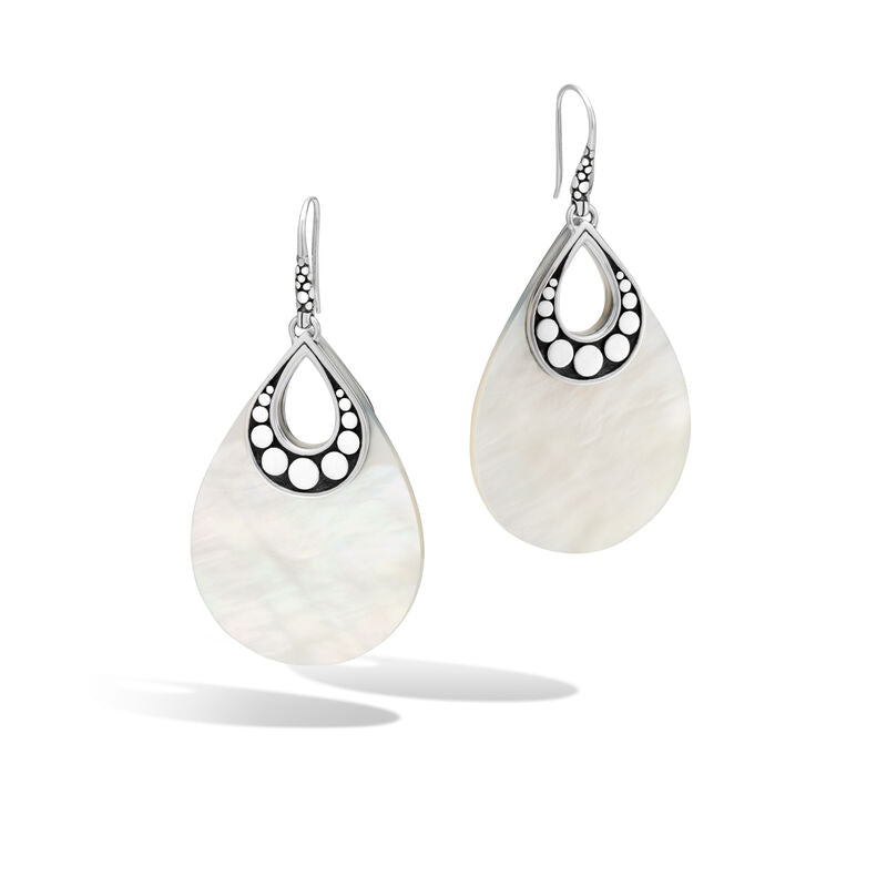 Drop Earring with White Mother of Pearl