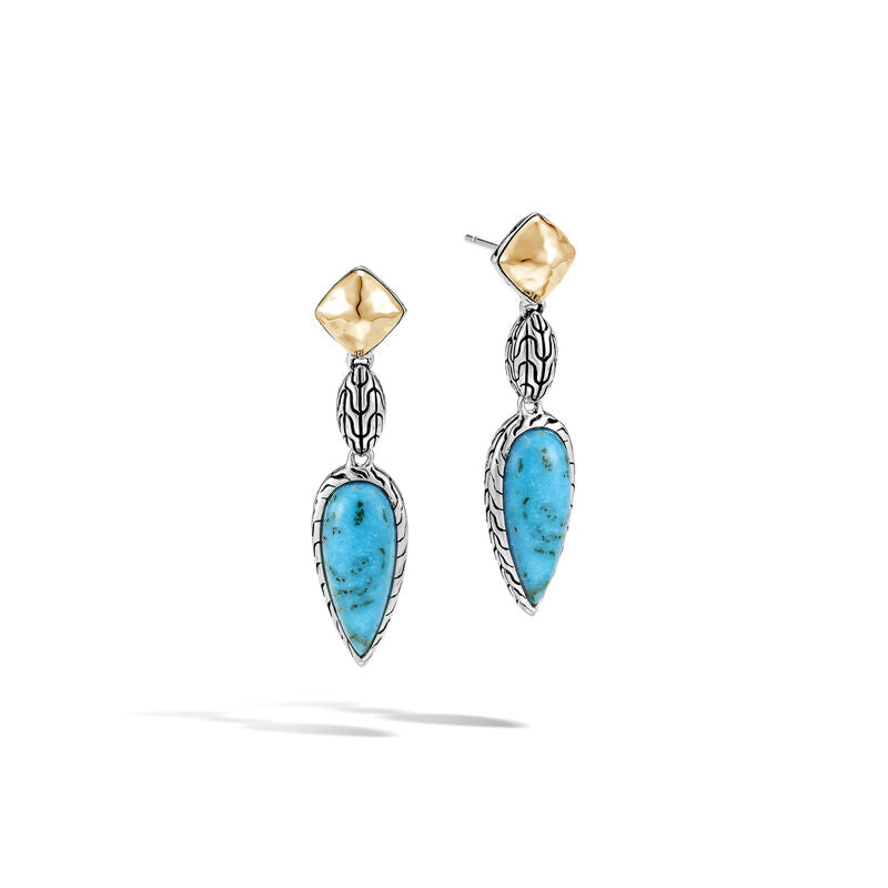Classic Chain Drop Earring with Turquoise