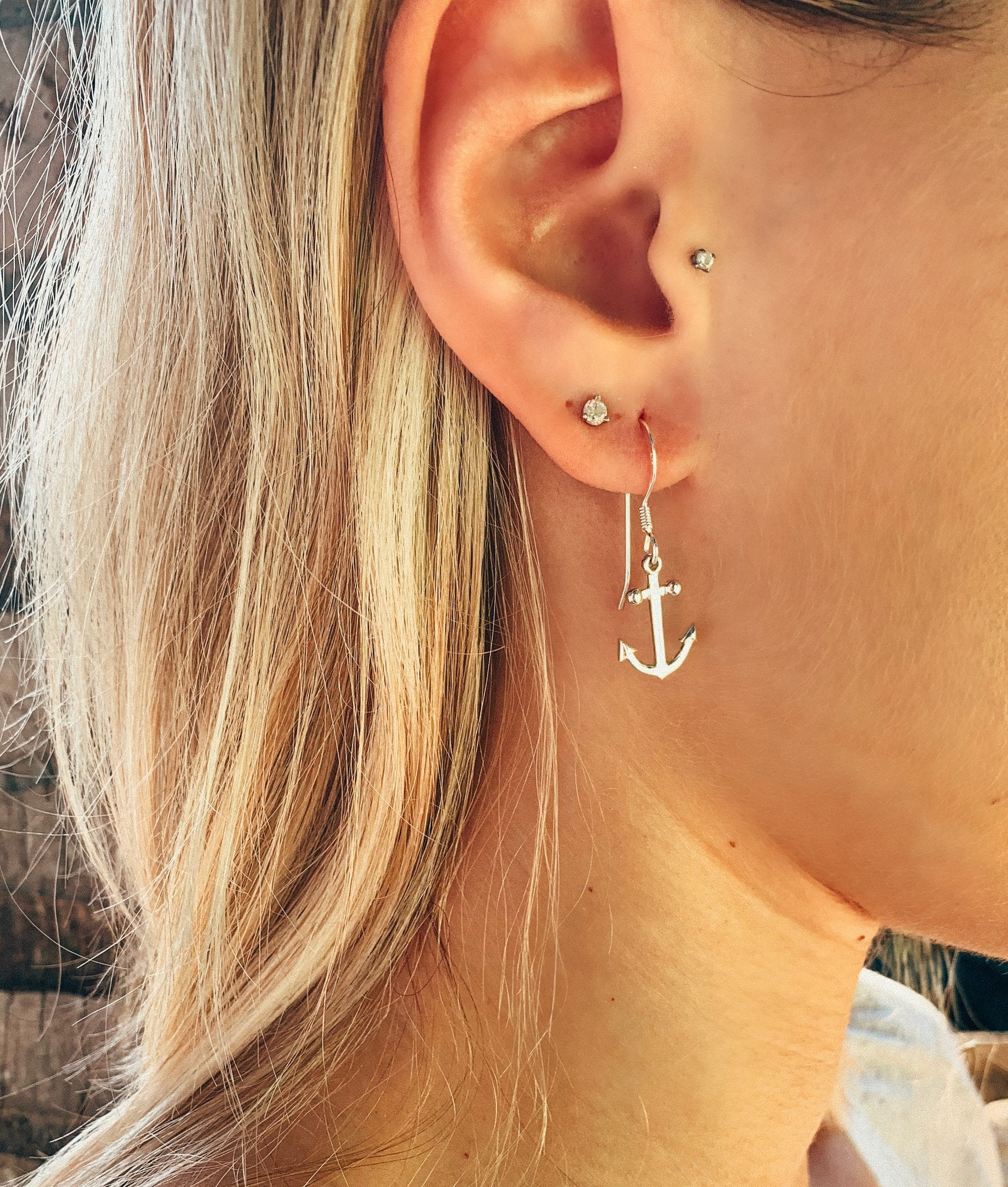 Anchor Dangle Earrings (Medium Size)