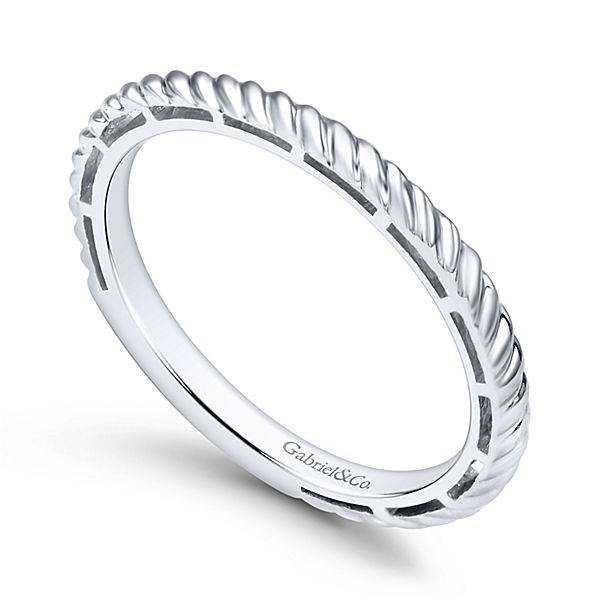 White Gold Stackable Ladies Ring
