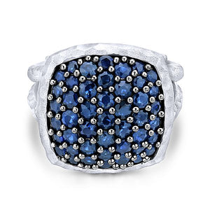 Silver Fashion Sapphire Ladies Ring