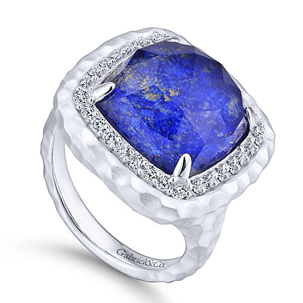Silver Fashion Multicolor Stones Ladies Ring