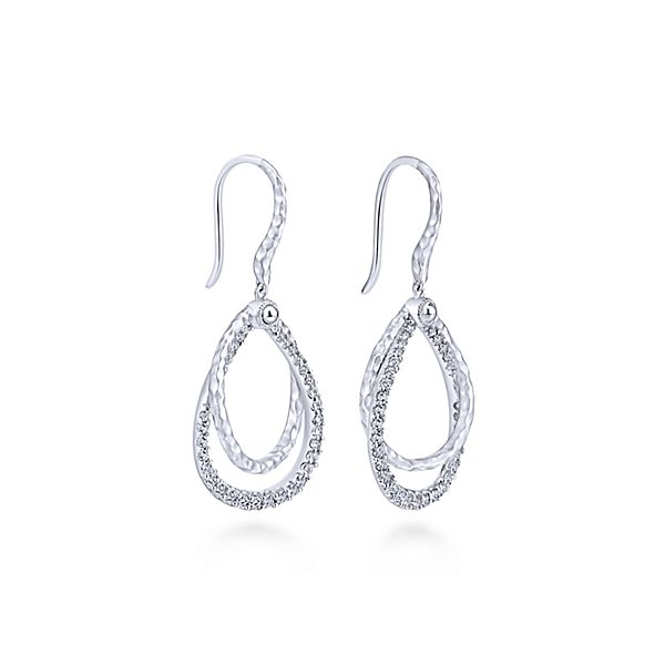 Sterling Silver White Sapphire Drop Earrings