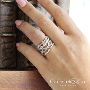 Yellow Gold Stackable Ladies Ring