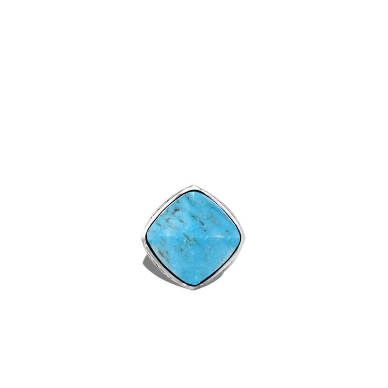 Classic Chain Sugarloaf Ring with Turquoise