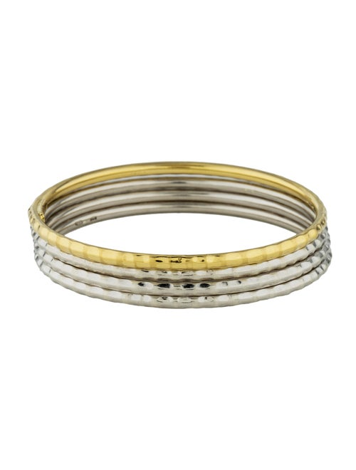 Martellato Hammered Bangle Set