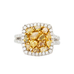 Baroque Yellow Diamond Ring