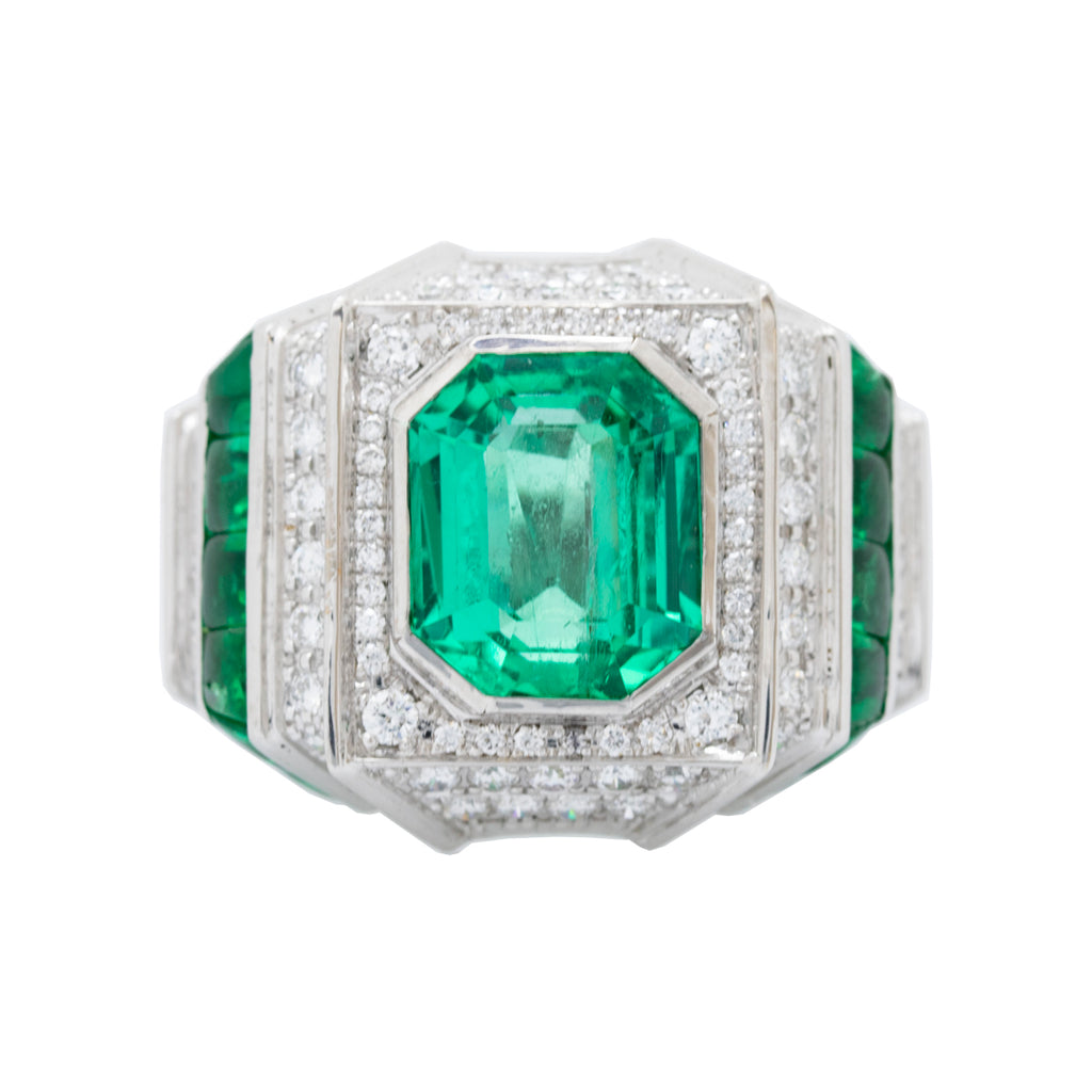 Columbian Emerald & Diamonds Ring
