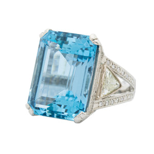 Aquamarine & Diamonds Ring