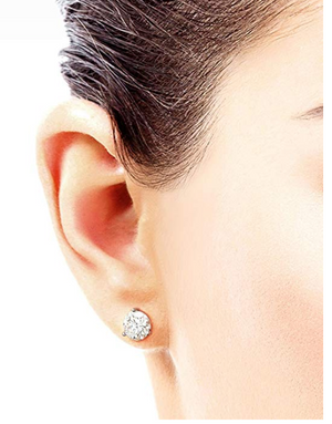 Moissanite 3 Prong Cocktail Style Stud Earrings