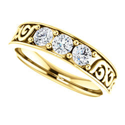 Diamond Men's Ring 3/4 CTW Silver / Gold / Platinum