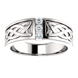 Diamond Men's Ring 1/5 CTW Silver / Gold / Platinum