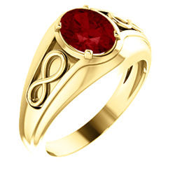 Chatham® Created Ruby Infinity-Inspired Men's Ring