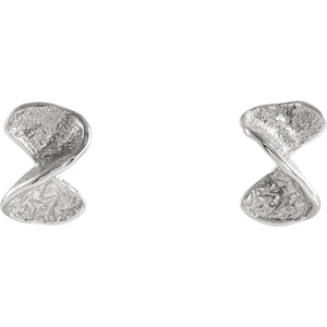 Twisted Stud Earrings with Backs