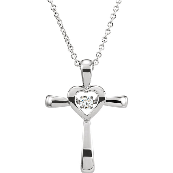 Mystara Diamonds® Cross with Heart