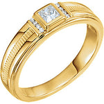 Diamond Men's Ring 1/3 CTW Gold / Platinum
