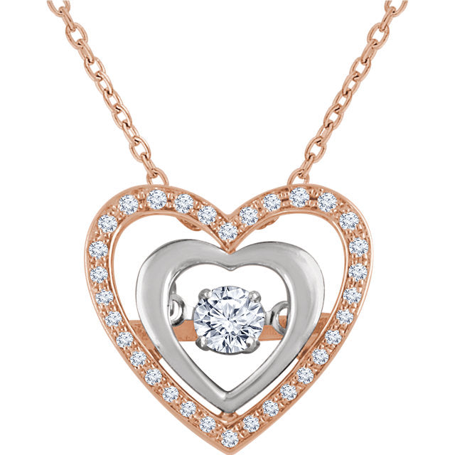 Mystara Diamonds® Heart Necklace