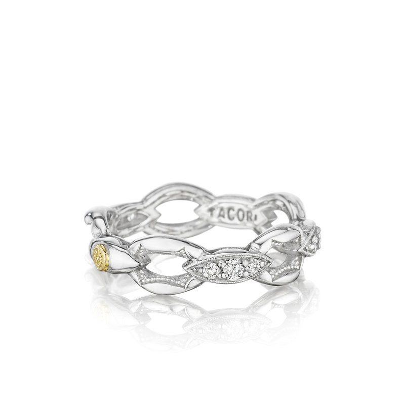 The Ivy Lane - Crescent Classic Ring with Diamonds