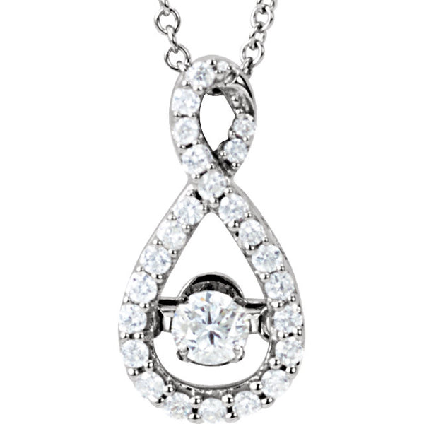 Mystara Diamonds® Infinity-Inspired Necklace