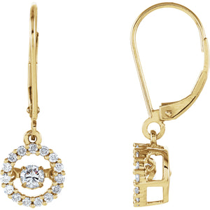 Diamond Halo-Style Mystara® Earrings