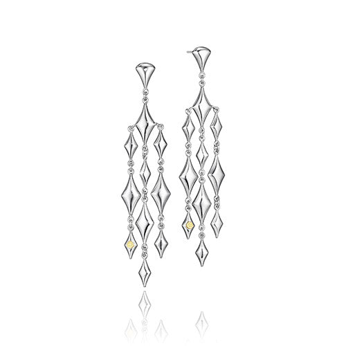 Silver Reign Chandelier Earrings