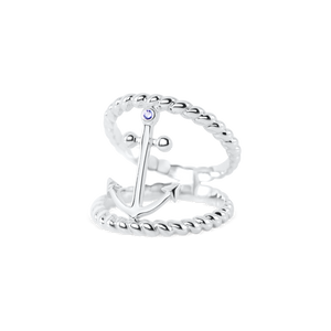 Anchor Double Rope Ring