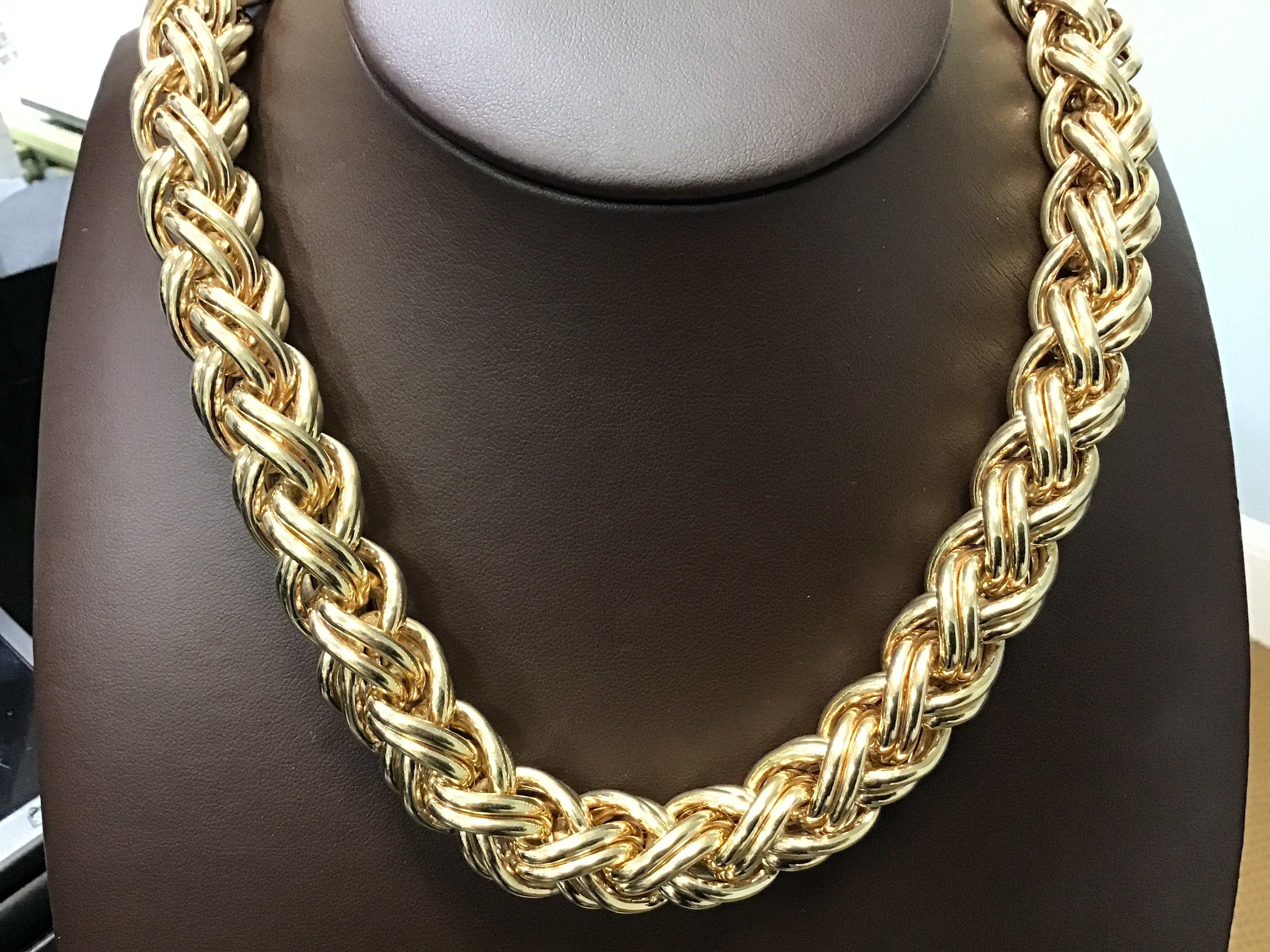 Bold gold necklace