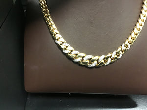 Cuban chain with diamonds