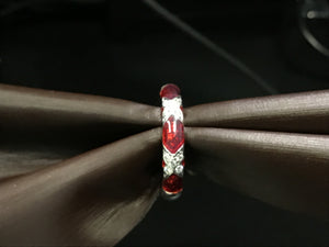 Red enamel band