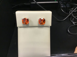 Poppy topaz stud earrings
