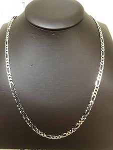 Silver 5.4mm flat Figaro chain